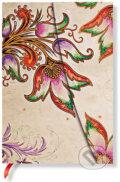 Paperblanks - Floral Cascade Ivory - MIDI - linajkov�