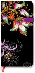 Paperblanks - Floral Cascade Ebony - SLIM - linajkov�