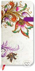 Paperblanks - Floral Cascade Ivory - SLIM - linajkov�