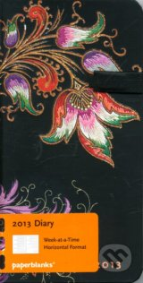 Paperblanks - diar 2013 - Floral Cascade Ebony Slim