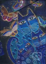 Paperblanks - Blue Cats & Butterflies - MIDI - linajkovy