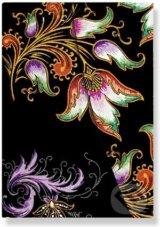 Paperblanks - adresar Floral Cascade Ebony