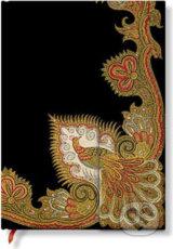 Paperblanks - Swirling Peacock Ebony - MIDI - cisty