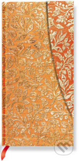 Paperblanks - Flaming Gold - SLIM - linajkový